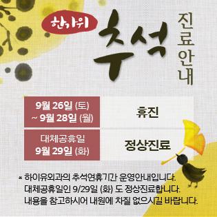 Popup Hiuclinic 추석
